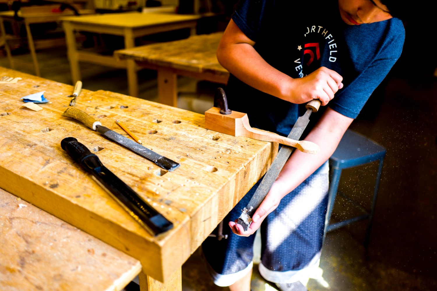 shelburne craft school — tuesday early dismissal woodworking